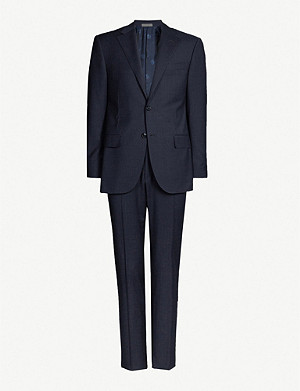 CORNELIANI Checked regular-fit wool suit