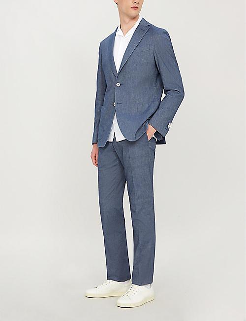brand new 6d509 ad1f4 CORNELIANI Tailored-fit washed cotton-blend blazer