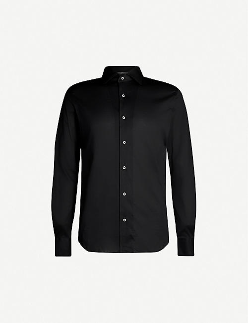 CORNELIANI Regular-fit cotton-jersey shirt