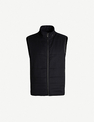 CORNELIANI Reversible cashmere and suedette gilet