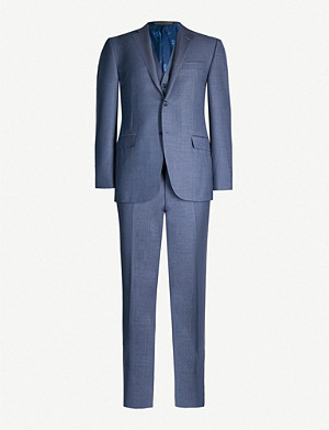 CORNELIANI Academy-fit virgin wool three piece suit