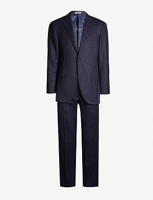 CORNELIANI Leader-fit pinstripe brushed wool suit