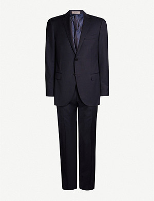 CORNELIANI Academy-fit sharkskin virgin wool suit