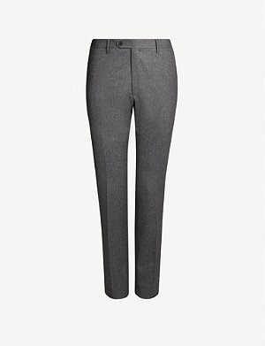CORNELIANI Tailored-fit wool-flannel trousers