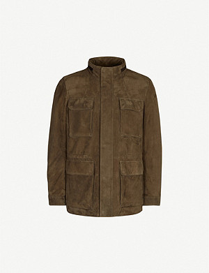 CORNELIANI Funnel-neck shearling jacket