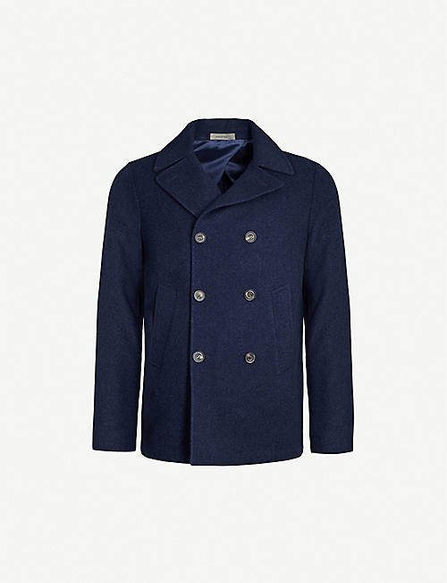 CORNELIANI Double-breasted cashmere coat