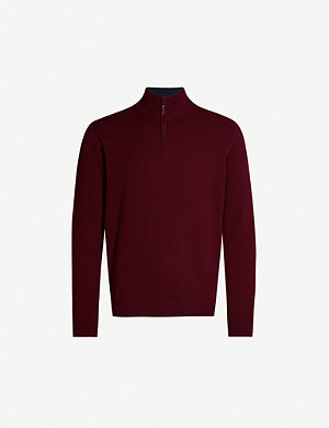 CORNELIANI High-neck wool and cashmere-blend jumper