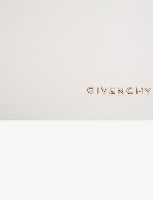 GIVENCHY Embroidered logo scarf
