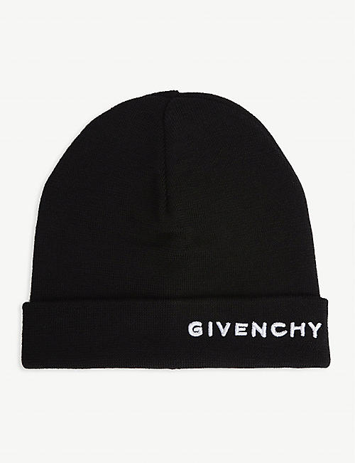 GIVENCHY Embroidered logo beanie