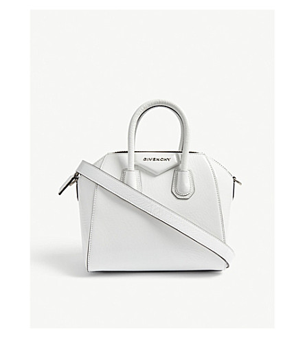 006a9be3a694 ... GIVENCHY Mini Antigona patent leather tote (White. PreviousNext