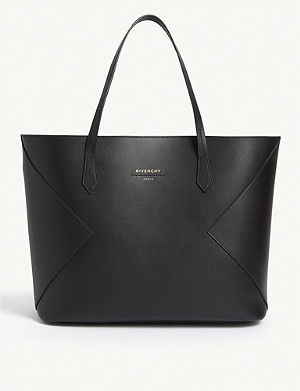 GIVENCHY Logo print leather tote