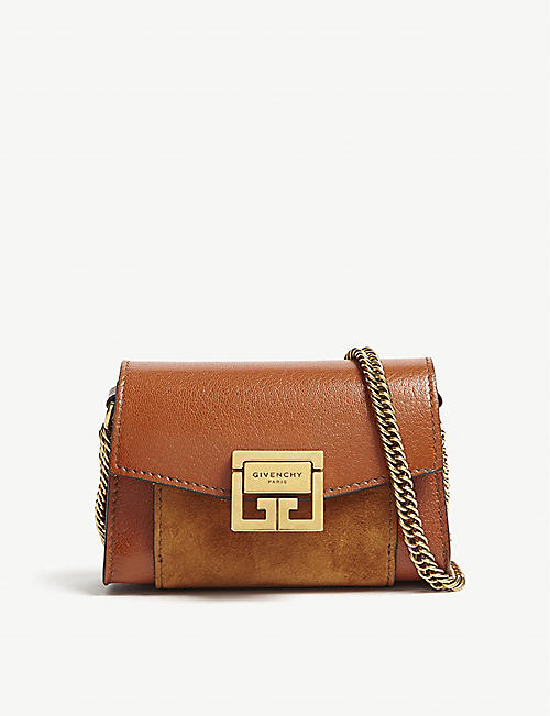 7a9c96343cf3e GIVENCHY GV3 Nano leather and suede belt bag