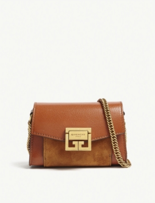 GIVENCHY GV3 Nano leather and suede belt bag