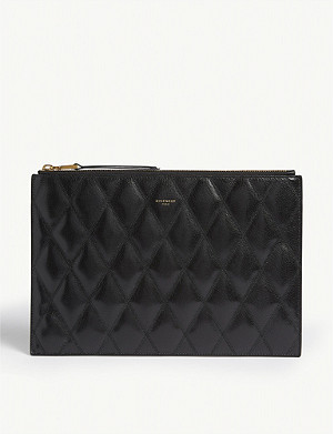 GIVENCHY Leather quilted pouch