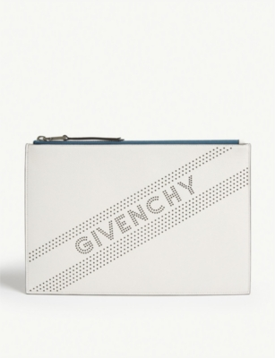 GIVENCHY Perforated leather pouch