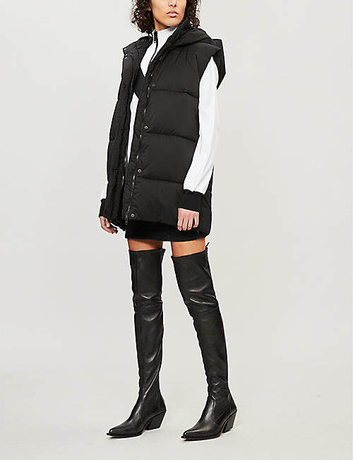 GIVENCHY Logo-back sleeveless quilted vest