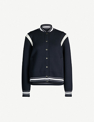 GIVENCHY Logo-appliqué wool-knit jacket