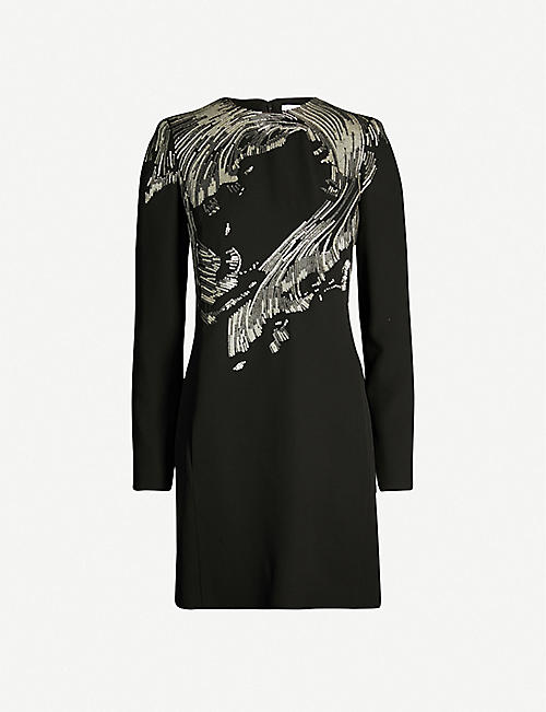 GIVENCHY Sequin-embellished crepe dress