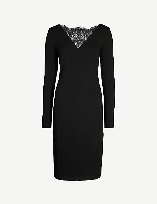 GIVENCHY Lace-trimmed stretch-knit dress 01264fe338