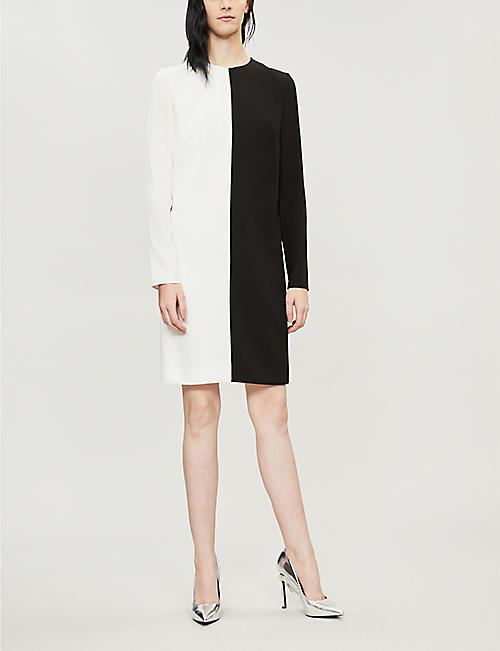 GIVENCHY Two-tone crepe mini dress