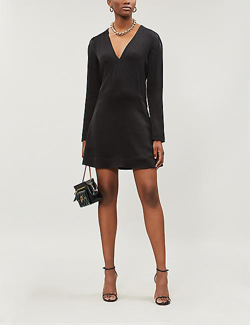 GIVENCHY V-neck satin mini dress