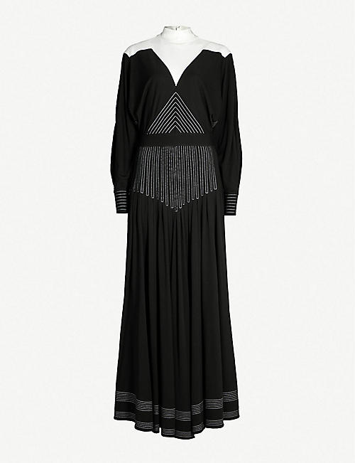 GIVENCHY Contrast-panel crepe gown f40b0d689