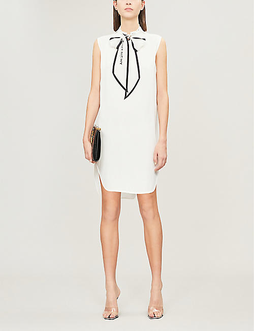 GIVENCHY Scarf-embellished crepe midi dress