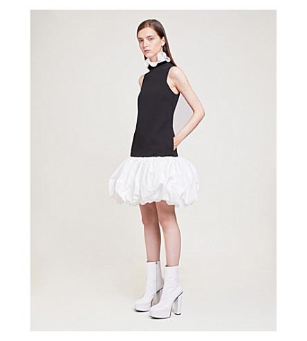 GIVENCHY Puffed-hem ruffled-trim crepe mini dress