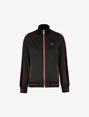 GIVENCHY Logo-embroidered jersey jacket