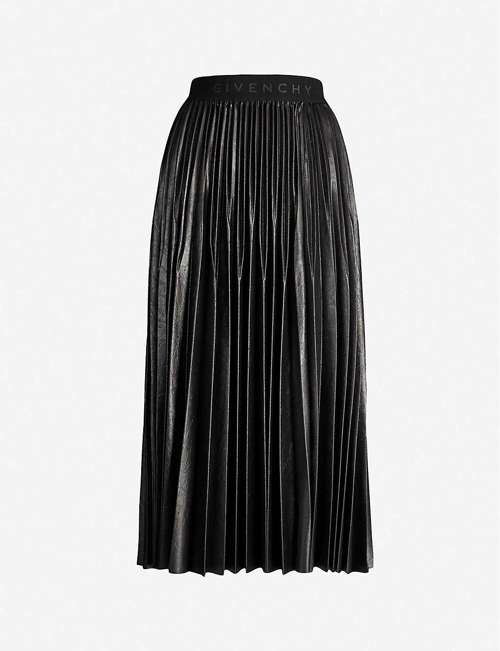 07643adf3a4 GIVENCHY - Pleated faux-leather skirt | Selfridges.com