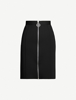 GIVENCHY Fitted high-rise crepe mini skirt