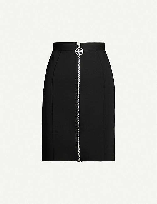 75b9b2310d583 GIVENCHY Fitted high-rise crepe mini skirt