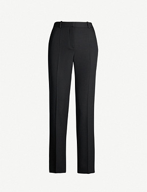 GIVENCHY Cropped straight high-rise wool-crepe trousers