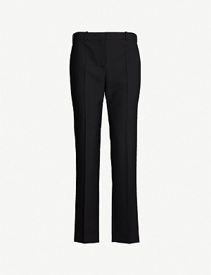 GIVENCHY Straight-leg high-rise wool-crepe trousers