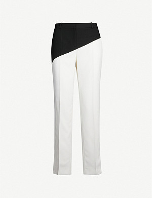 GIVENCHY Bi-colour straight-leg wool trousers