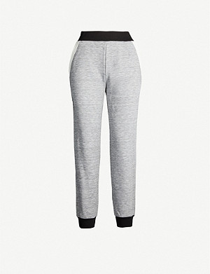 GIVENCHY Colour-blocked jersey jogging bottoms