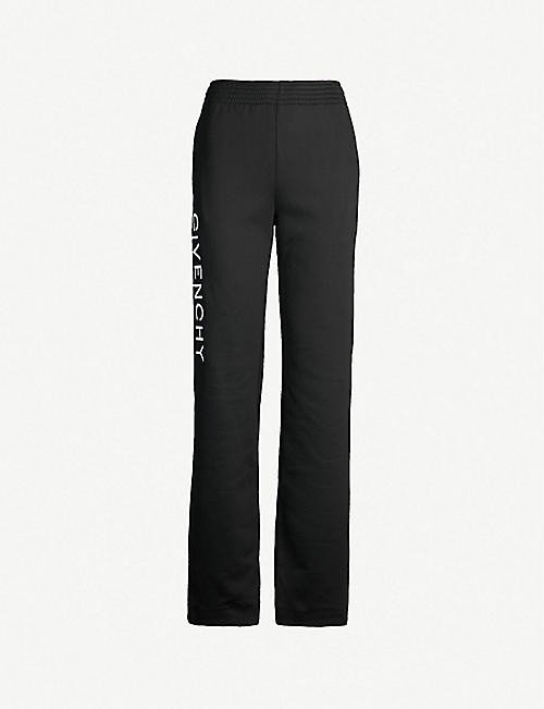GIVENCHY Logo-embroidered sports-jersey jogging bottoms
