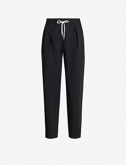 GIVENCHY Logo-embroidered cotton-blend jogging bottoms