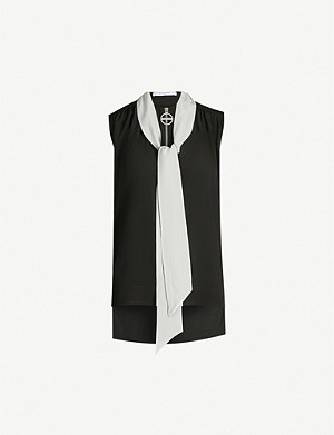 GIVENCHY Necktie silk-crepe shirt