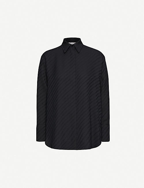GIVENCHY Logo-stripe silk shirt
