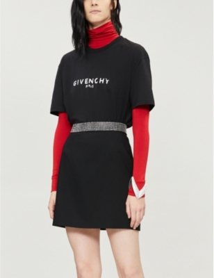 Givenchy Logo-Print Slim Fit Cotton-Jersey T-Shirt In Black