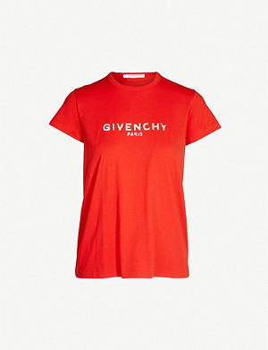 GIVENCHY Logo-print slim fit cotton-jersey T-shirt