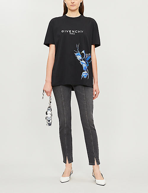 f79f462b78eb GIVENCHY Bird-print cotton-jersey T-shirt