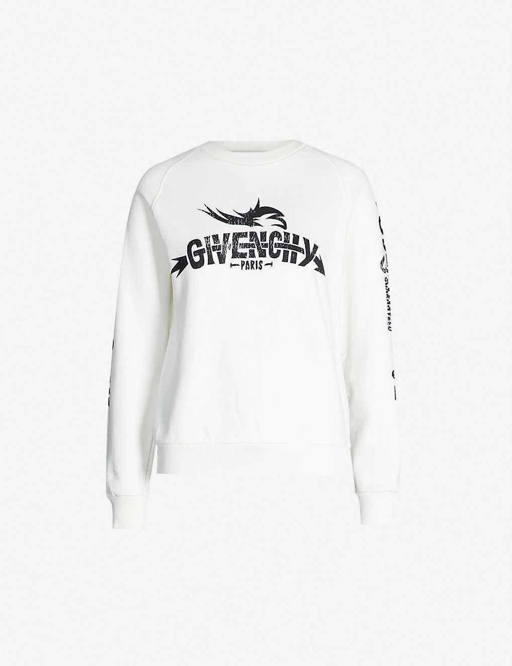 bfb54eb1b82c1 GIVENCHY - Taurus cotton-jersey sweatshirt | Selfridges.com