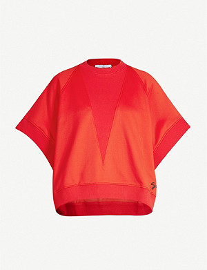 GIVENCHY Round-neck oversized jersey sweatshirt