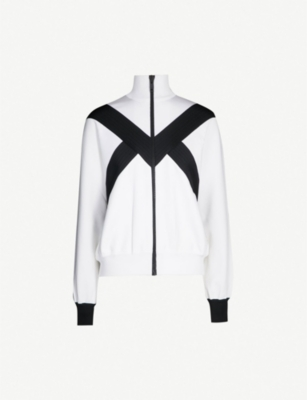 GIVENCHY Contrast graphic-panel stretch-jersey jacket