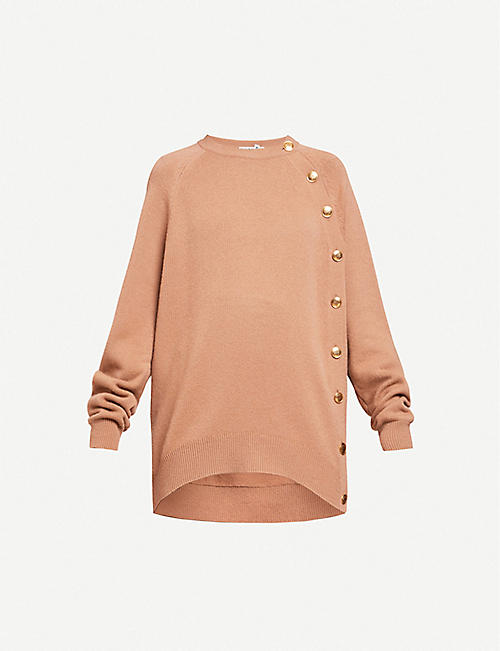 GIVENCHY: Raglan-sleeved relaxed-fit stretch-knit jumper