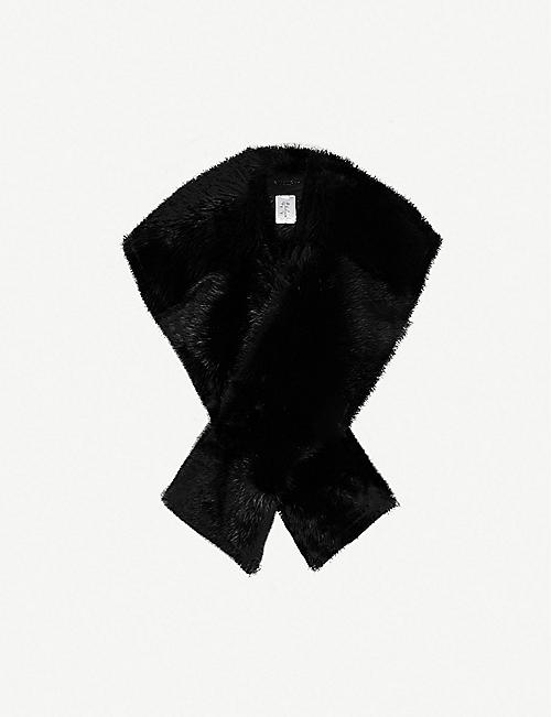 GIVENCHY Logo-embroidered shearling scarf