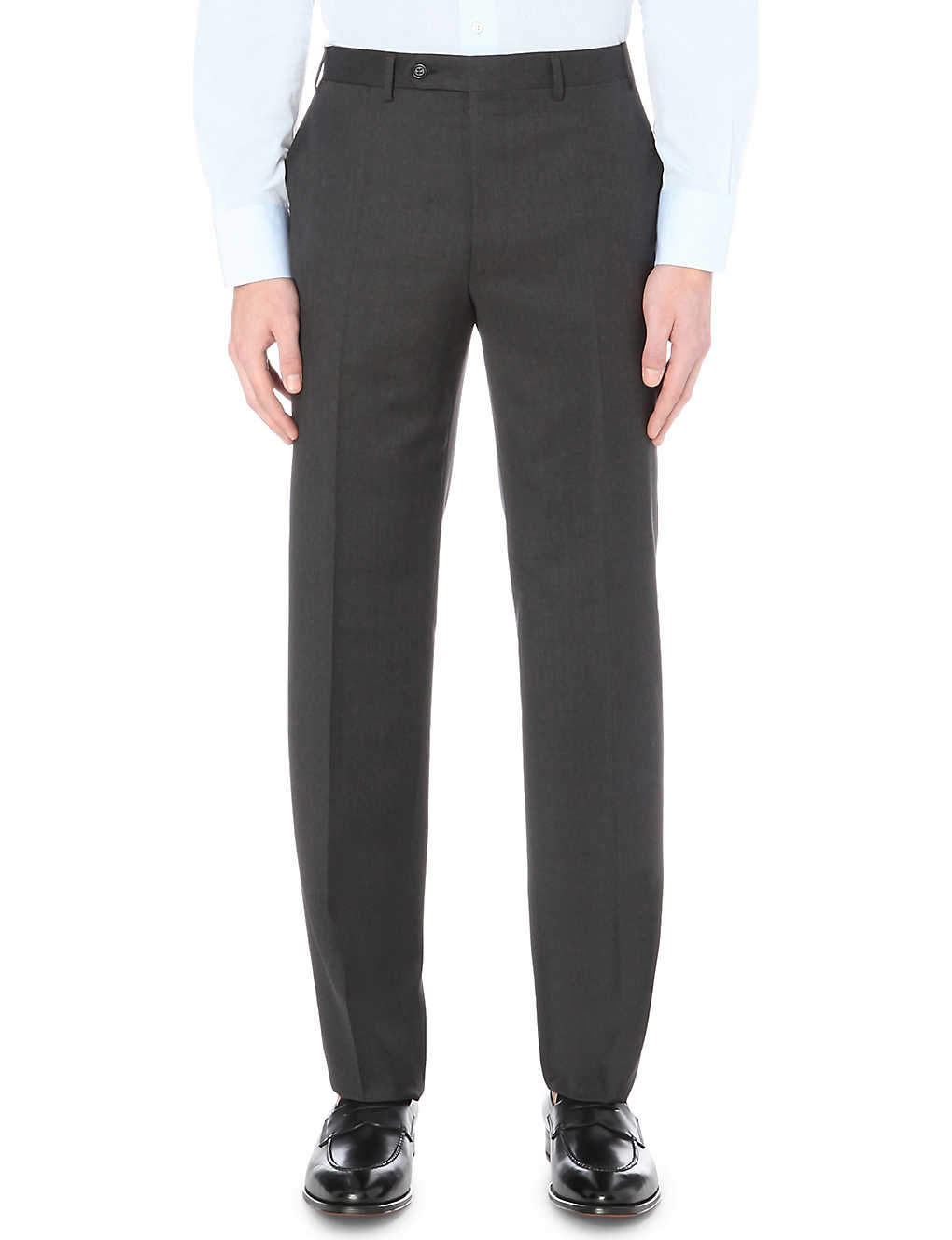 CANALI: Regular-fit straight wool trousers