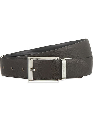 CANALI Reversible leather suit belt